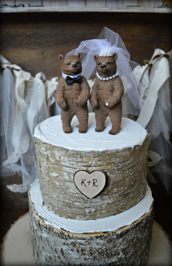 Bear Wedding Cake Topper Bears Bear Lover Black Bear Grizzley