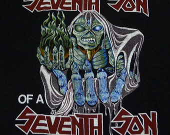 Vintage 80s 1988 Iron Maiden Seventh Son Of A Seventh Son Rock T-Shirt