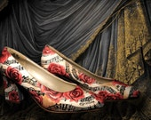 Music and Roses Painted Shoes, Weddings and Anniversaries (Complex)