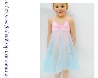 Felicity ballet dress pattern and leotard dance costume pdf sewing pattern