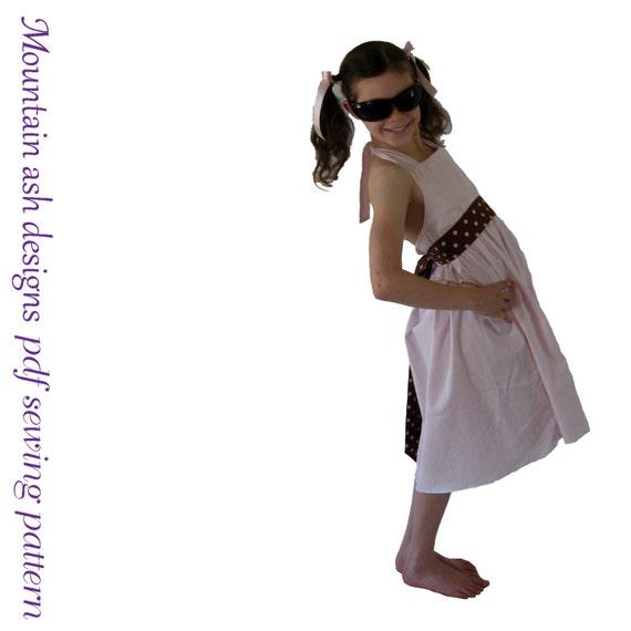 Halter neck dress pattern Sienna pdf sewing pattern girls dress sizes newborn-10