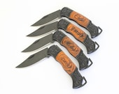 Set of 4 Groomsmen gifts, Personalized Pocket Knife, Gift for Dad, Wedding Party Gifts, Groomsman knives, Best Man, Gifts for Ushers, Knife