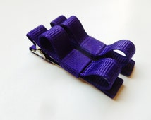 dark purple hair bows--tuxedo style accessories for infants toddlers and big girls-shower gift ideas