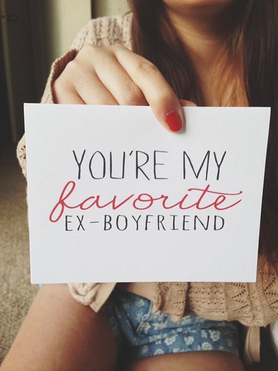 Breakup Card Youre My Favorite Ex Boyfriend