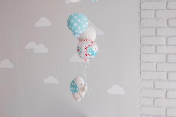 elefant ballon-mobile baby mobile kinderzimmer dekoration