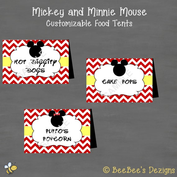 INSTANT DOWNLOAD Minnie And Mickey Mouse By BeeBeesDezigns