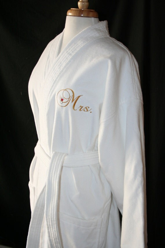 PERSONALIZED Luxury Terry Velour Robe