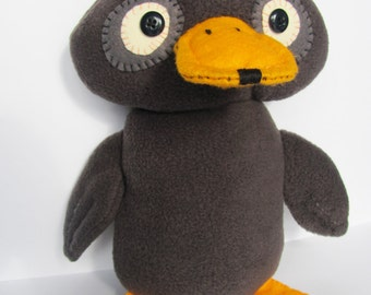 Dafty Duck, Ugly Duckling Fleece Plush Soft Toy, Handmade