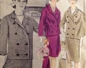 """Vintage 1960s Vogue Paris Original Christian Dior Suit Pattern 1076 Size 14 (34"""" Bust)"""