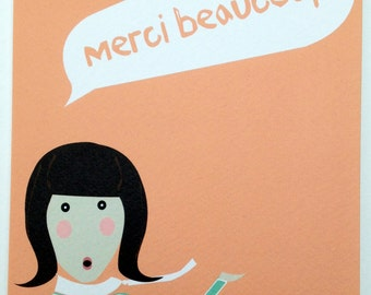 Merci Beaucoup! Thank you card