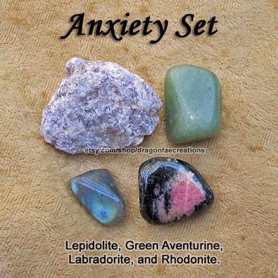 Anxiety Crystal Healing Set Aventurine Labradorite