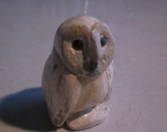 OWL totem, snow owl baby...Notsuke...copy of an antique...so not-netsuke...