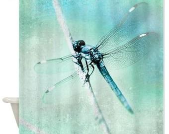pretty dragonfly shower curtains. Shower Curtain  Dragonfly Teal Aqua Aquamarine Whimsical Nature Dreamy Botanical Bathroom Mosaic Ocean Wave curtain Distant
