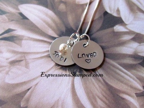 Personalized Name Necklace - Mother's - Daughter Necklace - Hand Stamped Jewelry -Gift Box Included