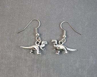 T-Rex Earrings - Dinosaur Earrings - Tyrannosaurus Rex - Trex - Animal Jewelry - Dangle Earrings - Dinosaur Jewelry