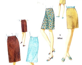 "PATTERN Style 2246 Straight skirts fitted contour waist mini or knee length Waist 31"" Hip 42"""