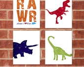 Dinosaur Art Print - 8x10 - Designer Set 9
