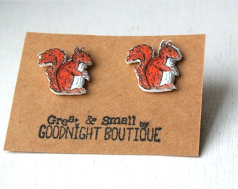 Squirrel Earrings Cute Earrings Stud Earrings