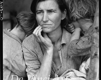 American Art Reproductions. Migrant Mother by Dorothea Lange, 1936. Digital Photograph