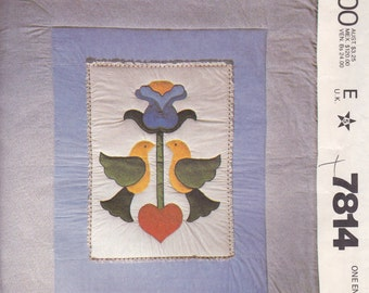 Pennsylvania Dutch Quilt Pattern McCalls 7814 Uncut