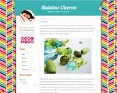 Rainbow Chevron Blogger Template - Bright Colorful Chevron Blogger Theme - rbc Simple Blogger Template Clean Blogger Blog Design