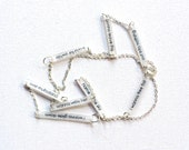 Tom Petty Jewelry // Free Fallin' Necklace // Rock Music Jewelry // Statement Necklace // Lyrics Necklace // Long Chain Necklace