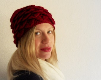 Bordeaux crochet  hat, valentines gifts, love gift ideas, woman accessories