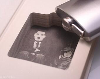 Hollow Book Safe & Flask - Vintage (1972) Charlie Chaplin