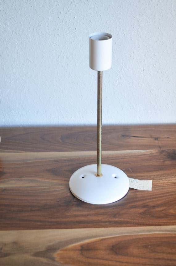 Items similar to Gold Brass White Industrial modern wall sconce light. Edison light bulb ...