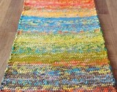 Rigid Heddle Loom Weaving PATTERN PDF, Shabby Chic Table Runner with Fabric Strips