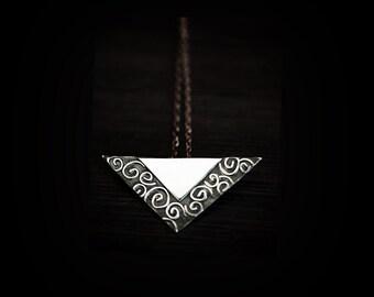 BaekDuSan -- Silver Filigree Overlay Necklace by Anilani