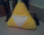 Made to Order: Legend of Zelda Triforce Hand Knit Pillow (Available in sizes small, medium, and large!)