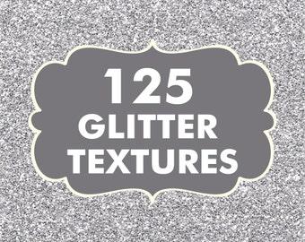 Sale 125 Glitter Textures, Digital paper Bundle, Scrapbook Papers, Digital Paper Pack, Glitter Papers, Digital Glitter, Glitter Graphics