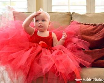 Toddler Tutu Dress Red Christmas Tutu Dress Pageant Tutu Dress Baby Girl Tutu Dress Baby Tutu Dress Childs Tutu Dress Childs Costume