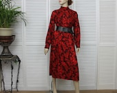Vintage Pendleton Two Piece Skirt and Blouse Red and Black