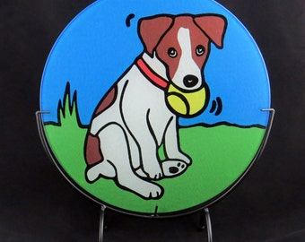 Jack Russell Terrier Dog Tempered Glass Cutting Board - 2 sizes available