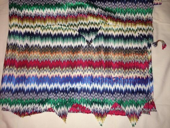 Retro Colorful Chevron Fabric F1