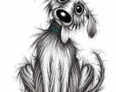 Bingo the dog Print download Super friendly adorable cute pet doggy pooch hound with a sticking out tongue floppy ears and happy face