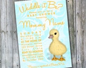 Duckling Waddle it Be Shower Invite