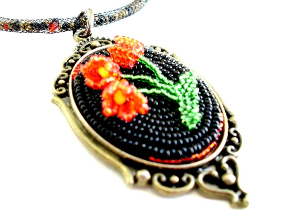 Items similar to statement beadwork bead embroidery
