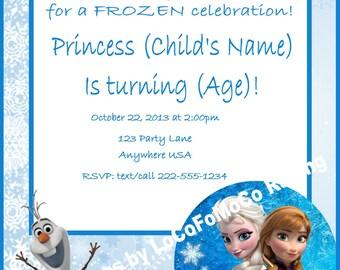 Custom Frozen Party Invitation