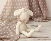Bunny Rabbit Doll Small Ivory Bunny Rabbit Doll Softie Plush Stuffed animal toy for children  Made from an original Ribizli Design Pattern