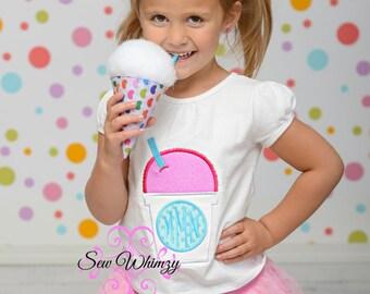 Sno cone Monogram shirt- Snow cone monogram shirt- Girl's Summer Shirt- Summer Shirt- Girl's Monogram Shirt- Monogram- Snow Cone- Sno Cone