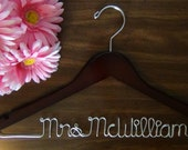 Bride Hanger, Bridal Hanger, Custom Made Personalized Hanger, Shower Gift idea, Wedding Hangers with Names, Photo Props