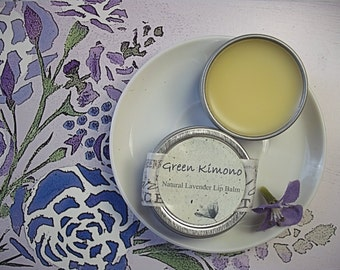 Lavender Lip Balm--All Natural Moisturizing Lip Protector