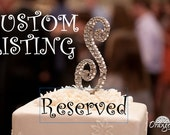 CUSTOM Pearl & Crystal monogram cake topper for Margaret Donaldson