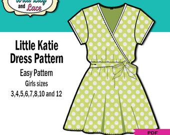 WRAP DRESS PATTERN for kids