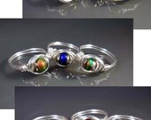 Mood Ring Sterling Silver Plated Made to Order in Sizes 4 - 12 Half Sizes, too! Custom Made in your size!