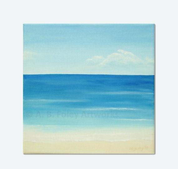 Wall Painting Ideas Step By Step : Articoli simili a arte originale oceano paesaggio marino