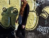 Grey slouchy beanie hat, crochet hat, winter fall, wool